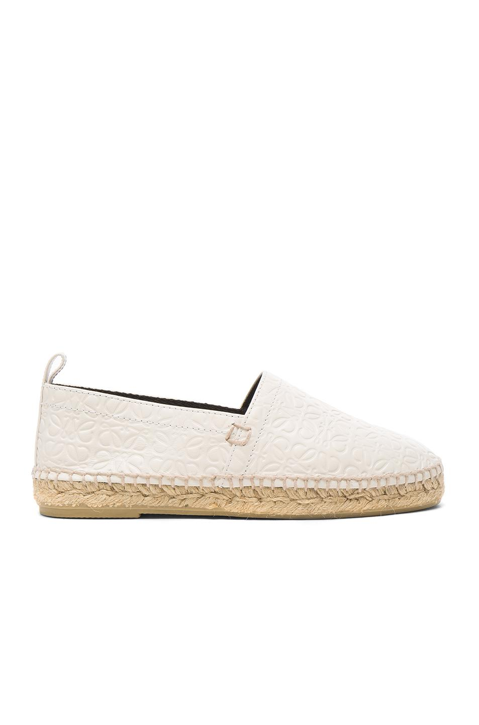 Lyst Loewe Leather All Over Repeat Espadrilles In White