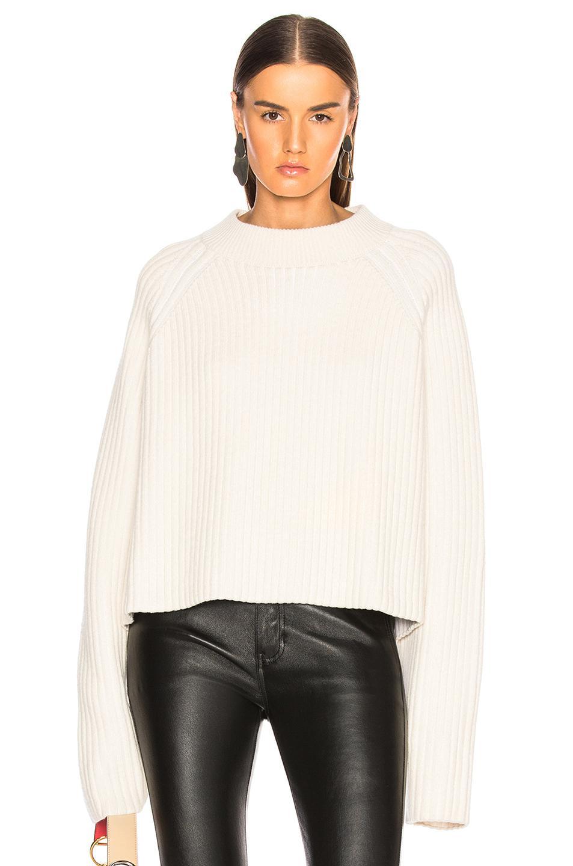 5e1dbb498e2a0 Proenza Schouler Cashmere Blend Mockneck Sweater in White - Lyst