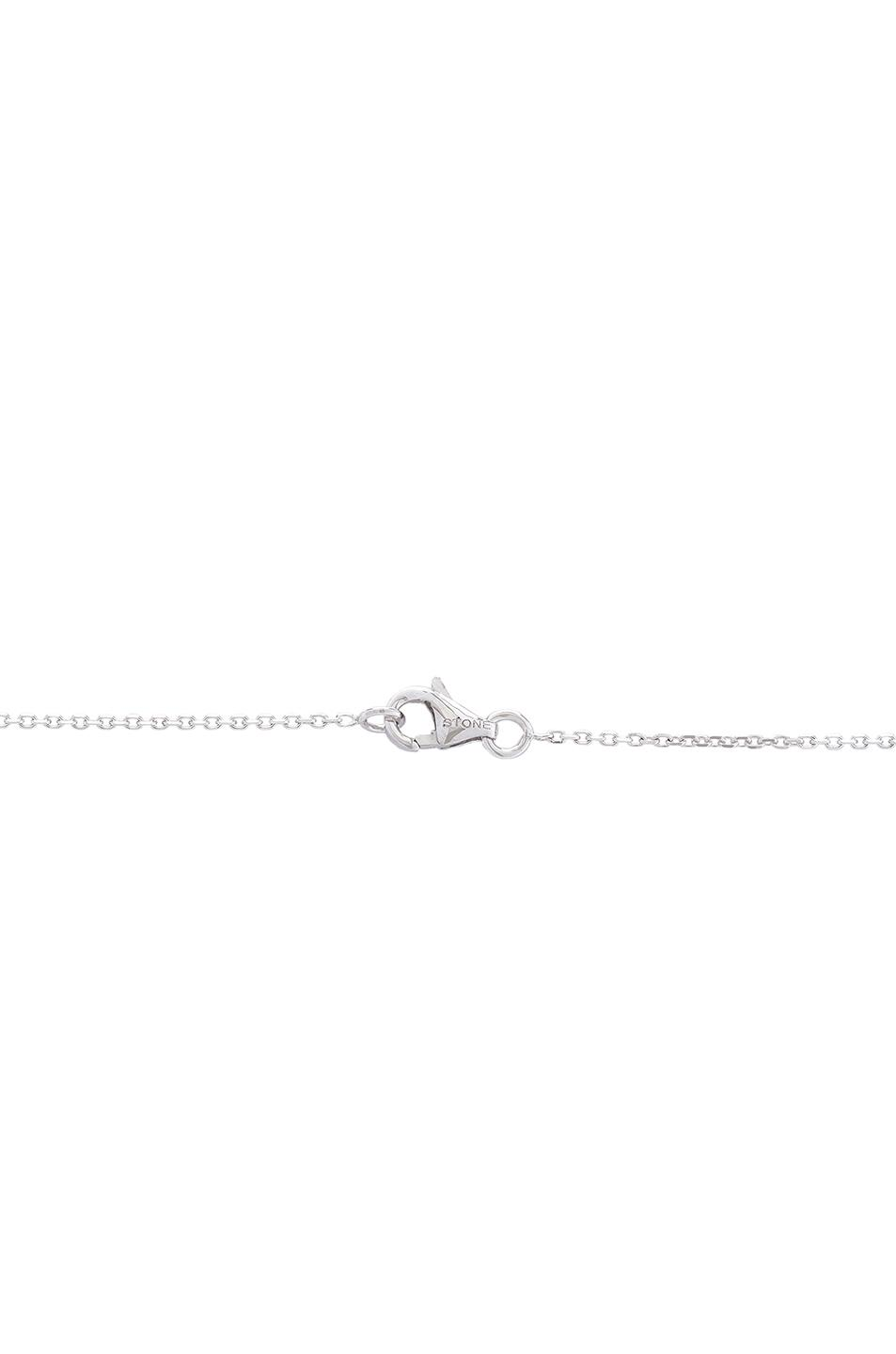 Stone Paris Passion Long Necklace in White Gold (Metallic)