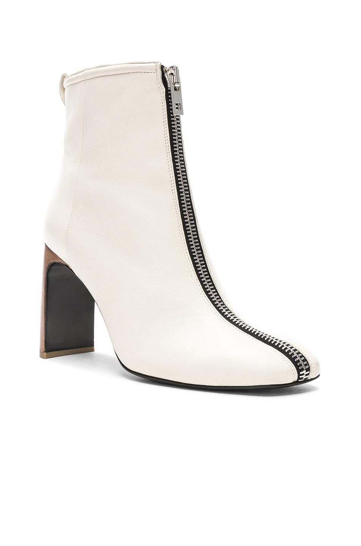 Rag & Bone Leather Ellis Zip Boot in Ivory (White)