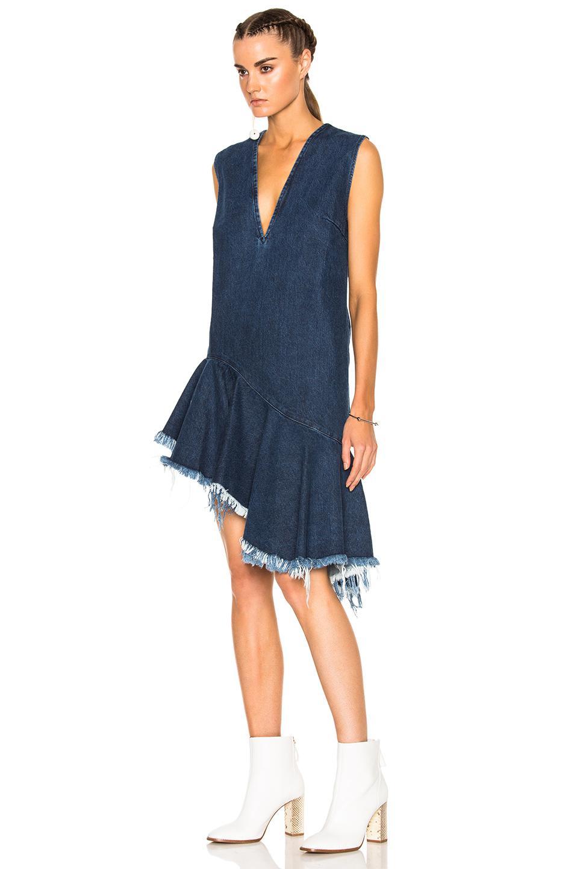 1b2078adf32 Lyst - Marques Almeida Denim Sleeveless Dress in Blue