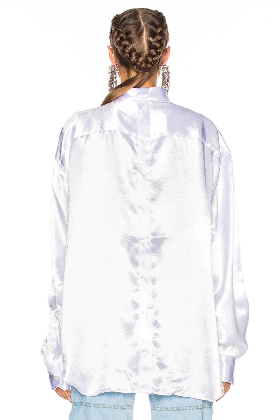 Y. Project Button Down Shirt in Silver (Metallic)