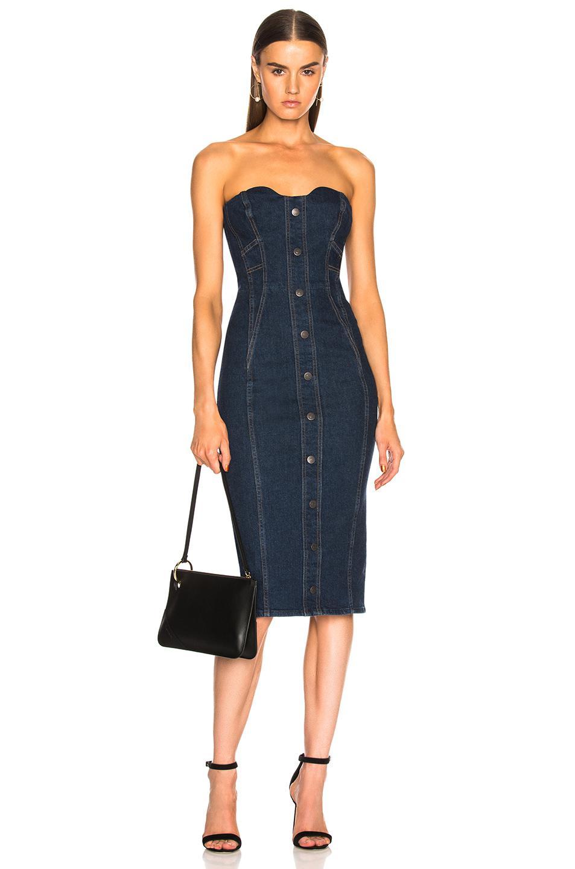 Lyst - Veronica Beard Liza Dress In Dark Stone Wash in Blue ad1fafeb3
