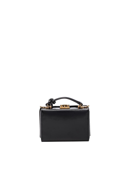 Mark Cross Leather Grace Mini Box Bag in Black