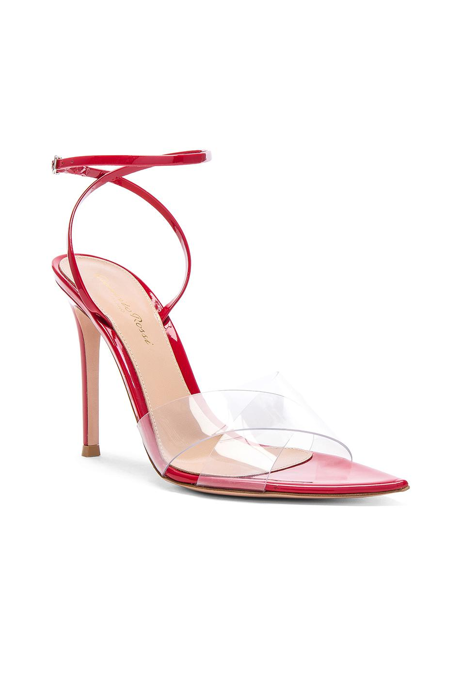 b5ab156224f Gianvito Rossi - Red Patent   Plexi Stark Ankle Strap Sandals - Lyst. View  fullscreen