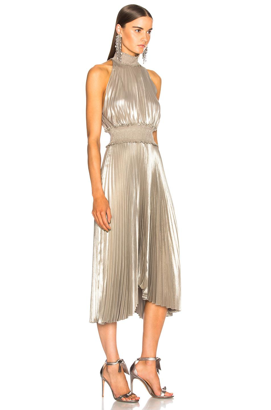 Lyst A L C Kravitz Dress In Metallic