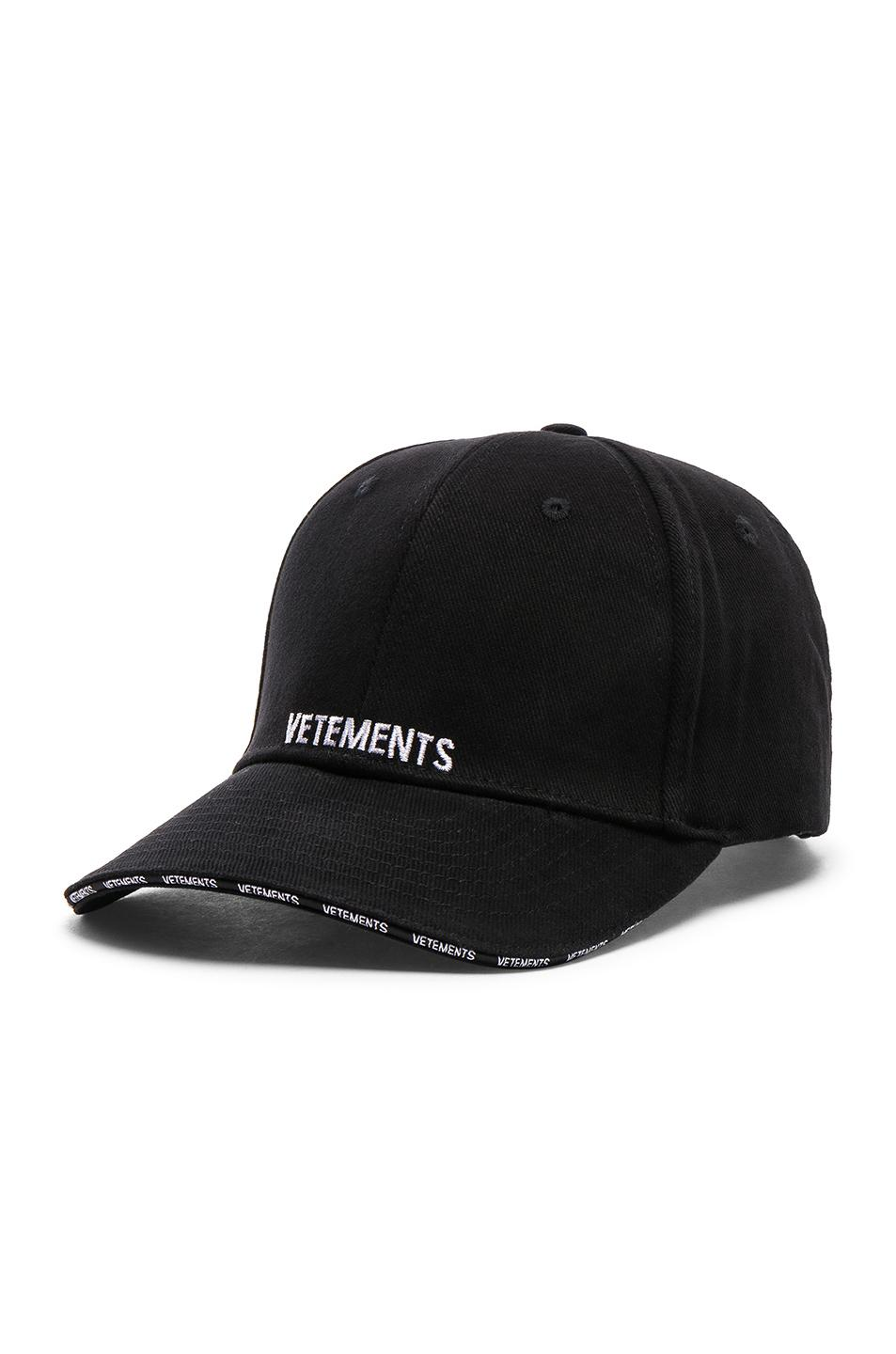 42dc3b045dbde Vetements Logo Cap in Black - Lyst
