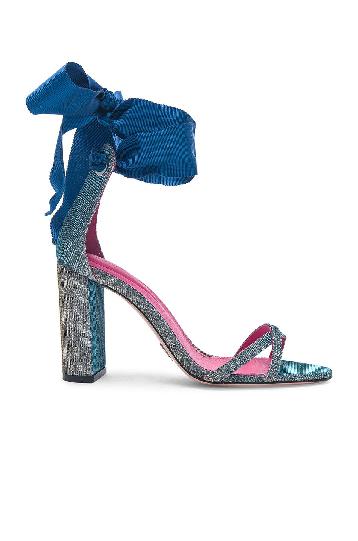 Oscar Tiye. Women's Blue Lara 90mm Sandals