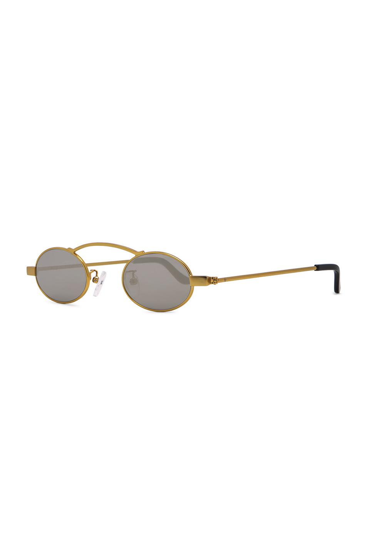 ROBERI AND FRAUD Leather Doris 2.0 Sunglasses in Gold (Metallic)
