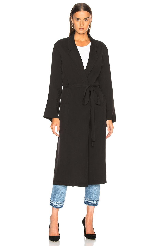 Bathrobe trench coat - Black Smythe Discount Codes Really Cheap q95guKAAwO