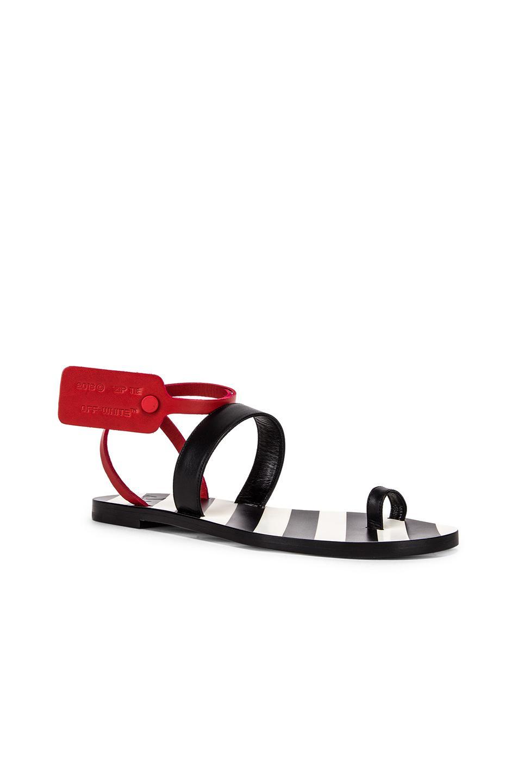 Off-White c o Virgil Abloh - Black Zip Tie Capri Flat - Lyst. View  fullscreen eb3ce53fd