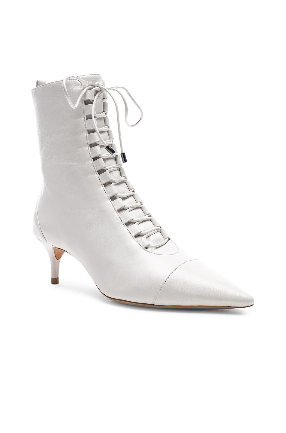 aa8617d2f0b6 Alexandre Birman - White Leather Millen Lace Up Ankle Boots - Lyst. View  fullscreen