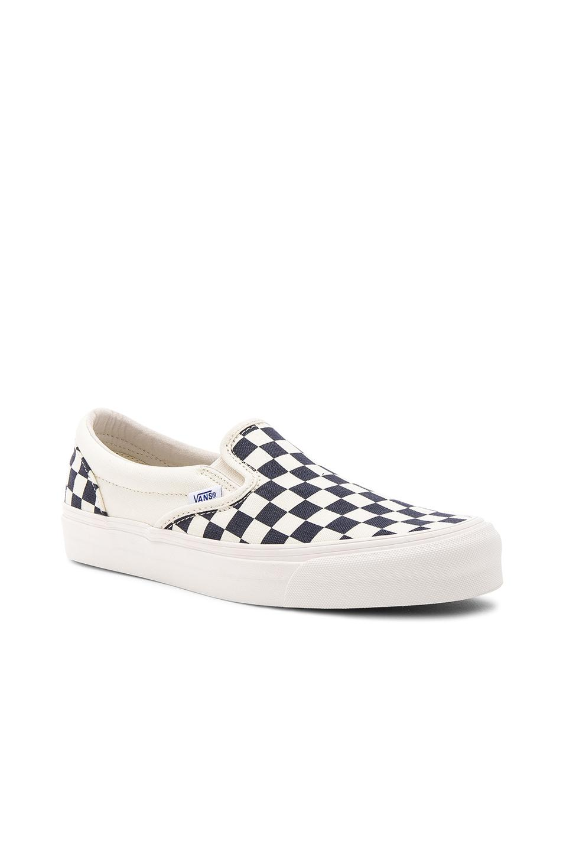 50ba7fe5a50420 Vans - White Og Classic Canvas Checkerboard Slip On Lx - Lyst. View  fullscreen