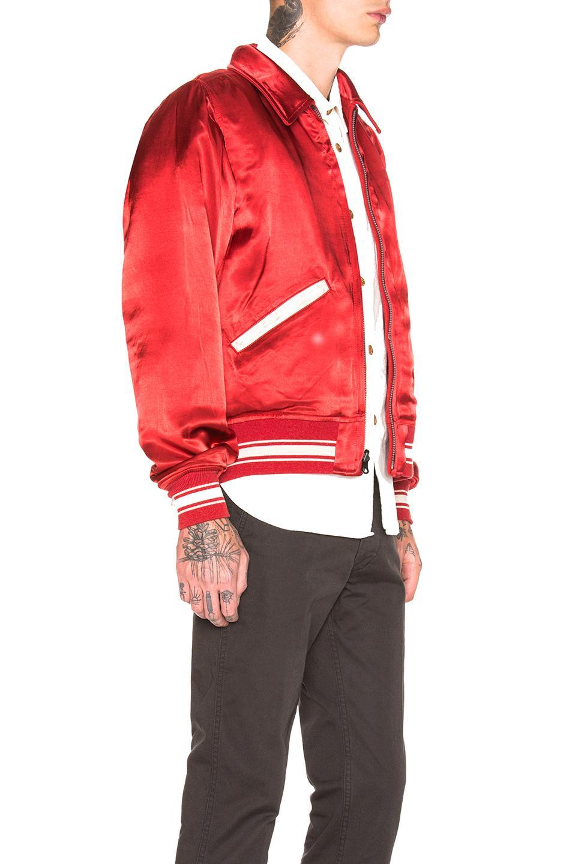 6267d8b03 Visvim Troupe Jacket in Red for Men - Lyst