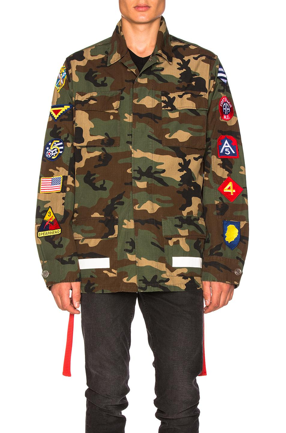 bd5988352f57 Lyst - Off-White c o Virgil Abloh Archive Field Jacket in Green