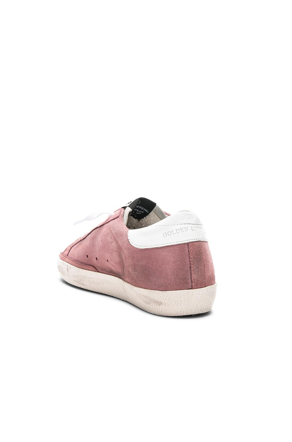 Golden Goose Deluxe Brand Suede Sneakers Superstar in Pink, White & Blue (Pink)