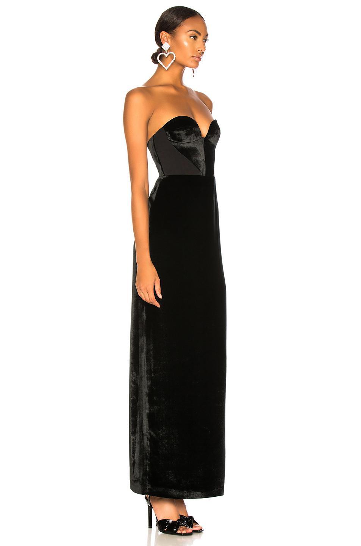 e73ebb97df09 ... Black Velvet Strapless Gown - Lyst. View fullscreen