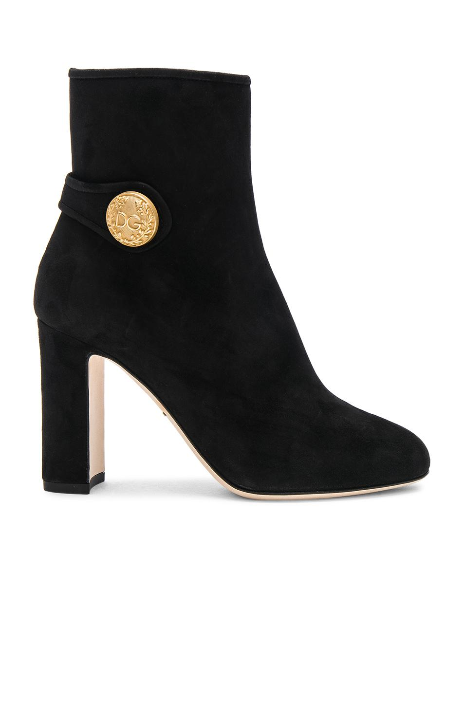 Dolce & Gabbana Side Button Suede Booties in . VYbIHt