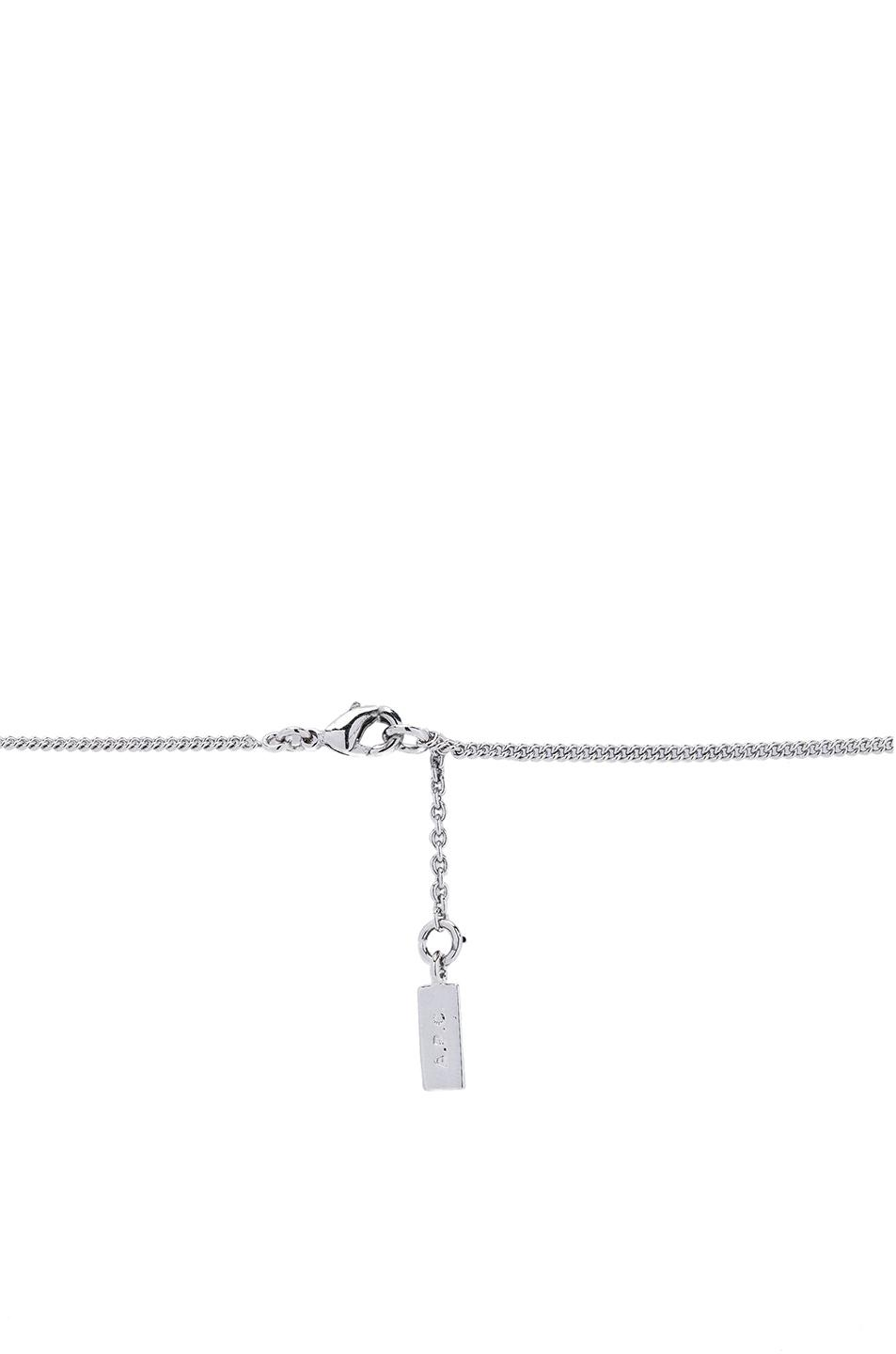 A.P.C. Serge Necklace in Silver (Metallic)