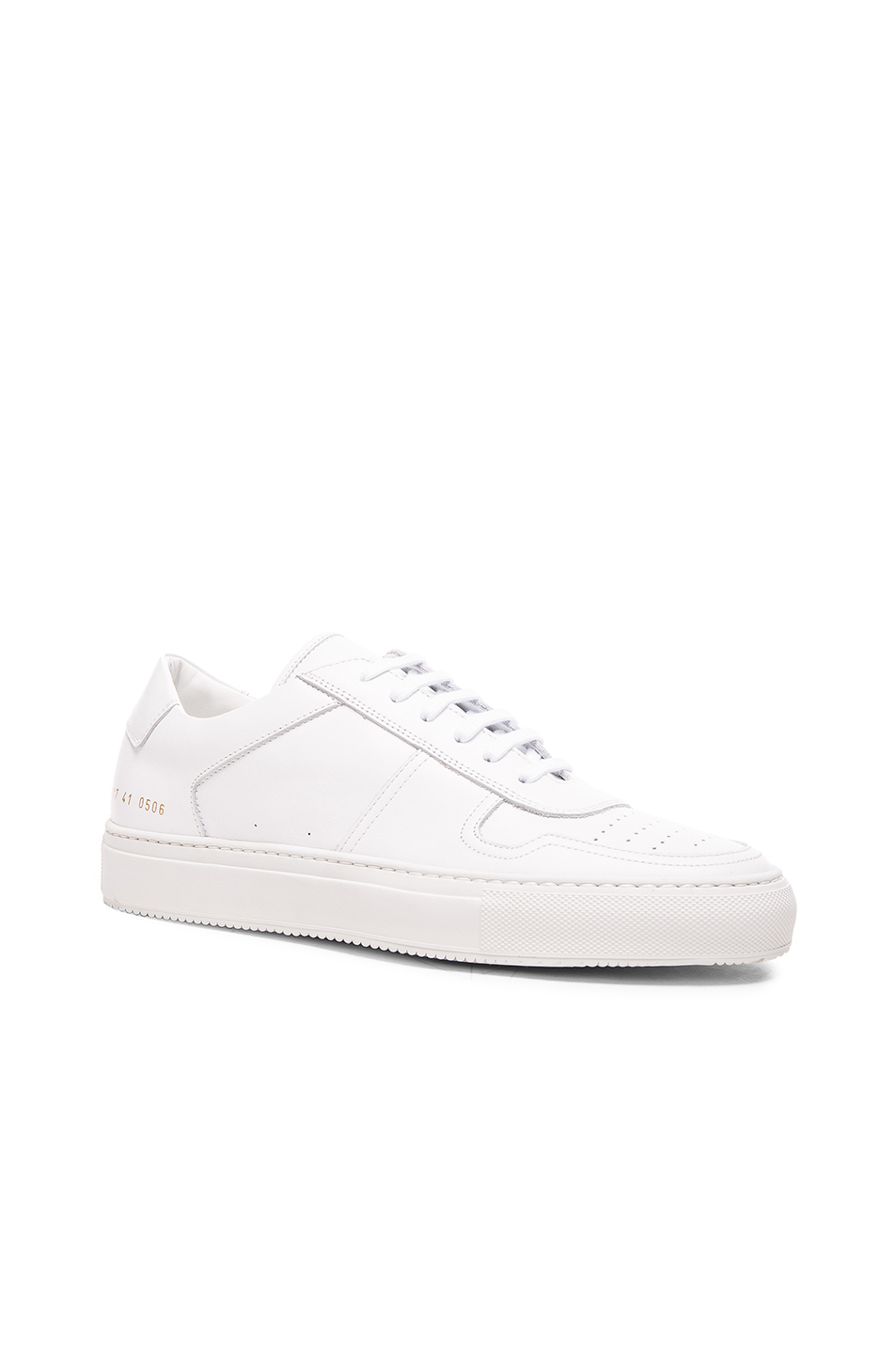 common projects leather bball low sneakers in white lyst. Black Bedroom Furniture Sets. Home Design Ideas