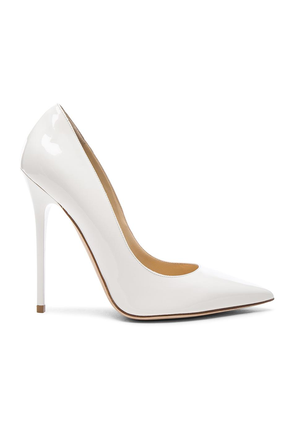 80a044a965aa Jimmy choo Patent Leather Anouk Pumps in White