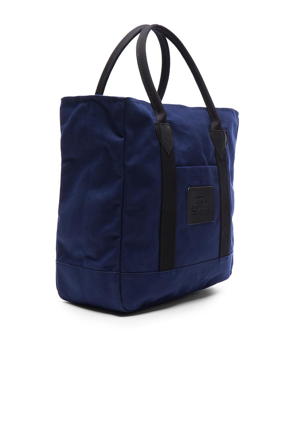 Junya Watanabe Cotton Canvas Seil Marschall Tote in Navy (Blue)