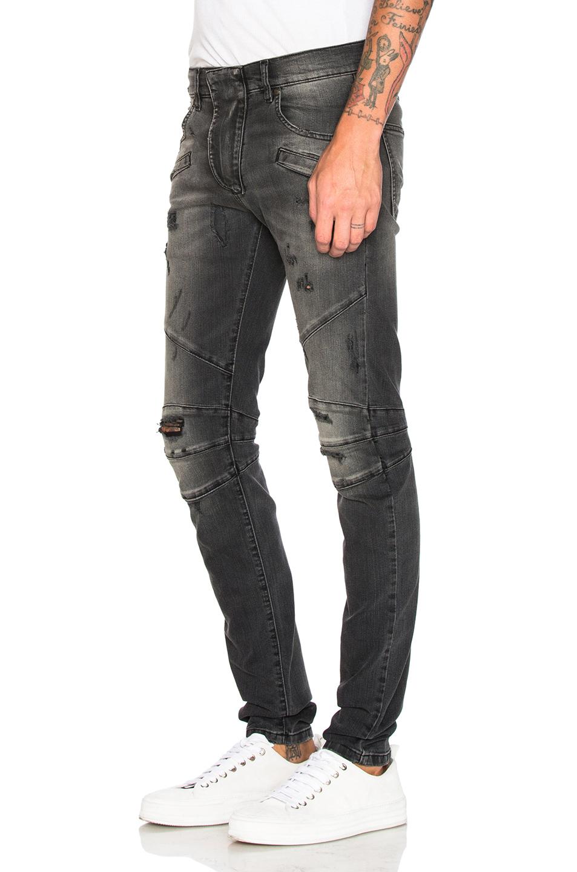 balmain jeans in black for men lyst. Black Bedroom Furniture Sets. Home Design Ideas