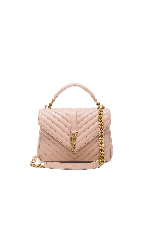 Saint laurent Medium College Bag in Pink  d5af417a956e1