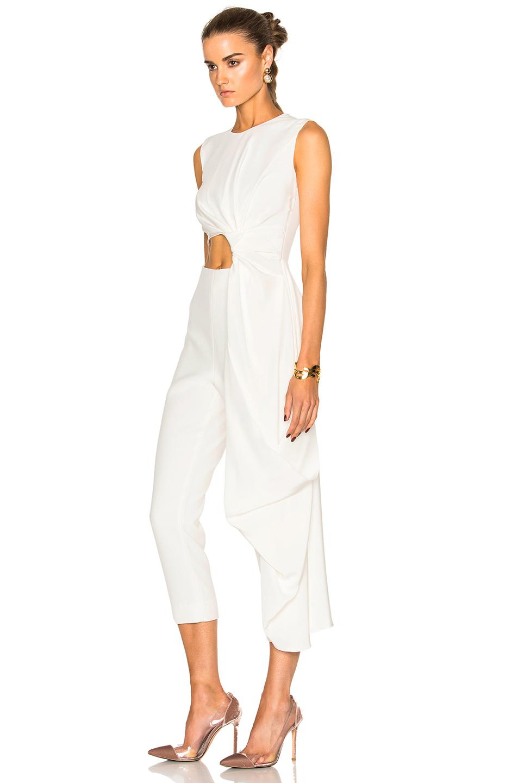 645c670365c Roksanda Bridal Silk   Bonded Crepe Jumpsuit in White - Lyst