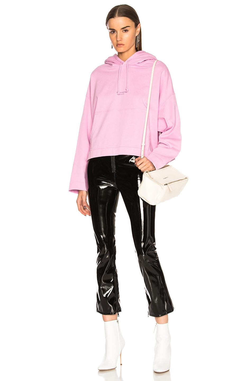Acne Studios Cotton Joggy Hoodie in Candy Pink (Pink)