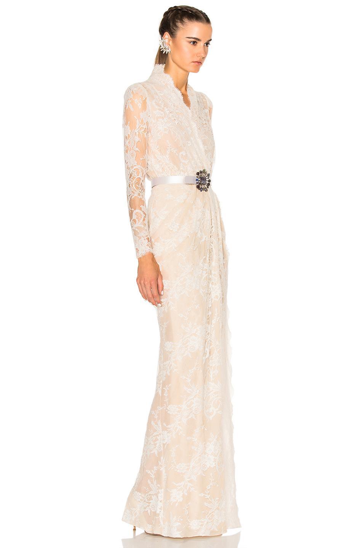 Lyst - Alexander Mcqueen Sara Lace Wrap Dress