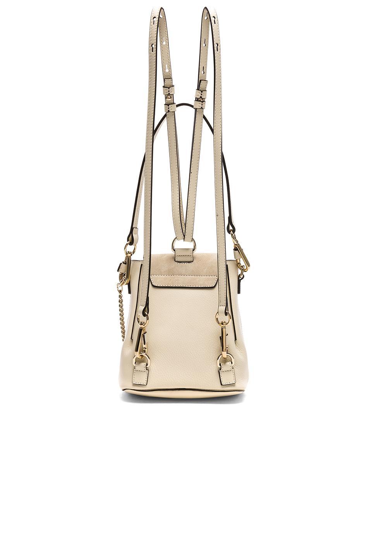 Chloé Leather Mini Faye Calfskin & Suede Backpack in White