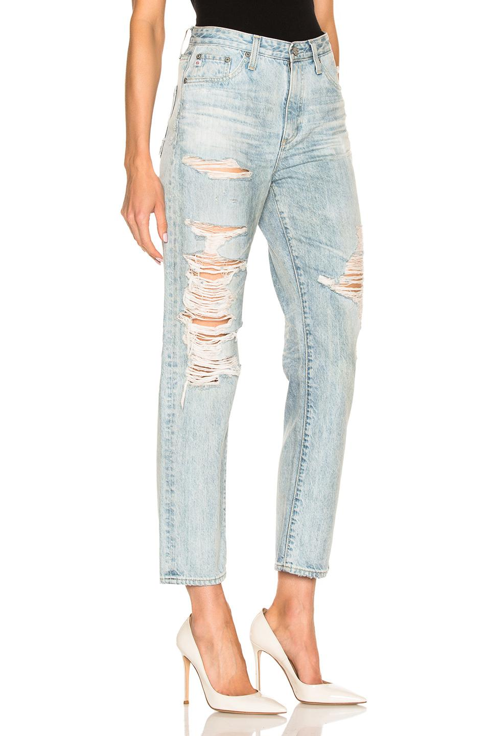AG Jeans Cotton Phoebe Crop in Blue