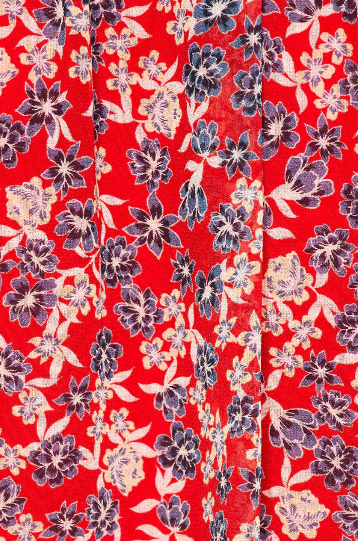 Nicholas Silk Blossom Smocked Maxi Dress in Red