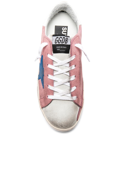 Golden Goose Deluxe Brand Suede Sneakers Superstar in Pink, White & Blue (Pink)
