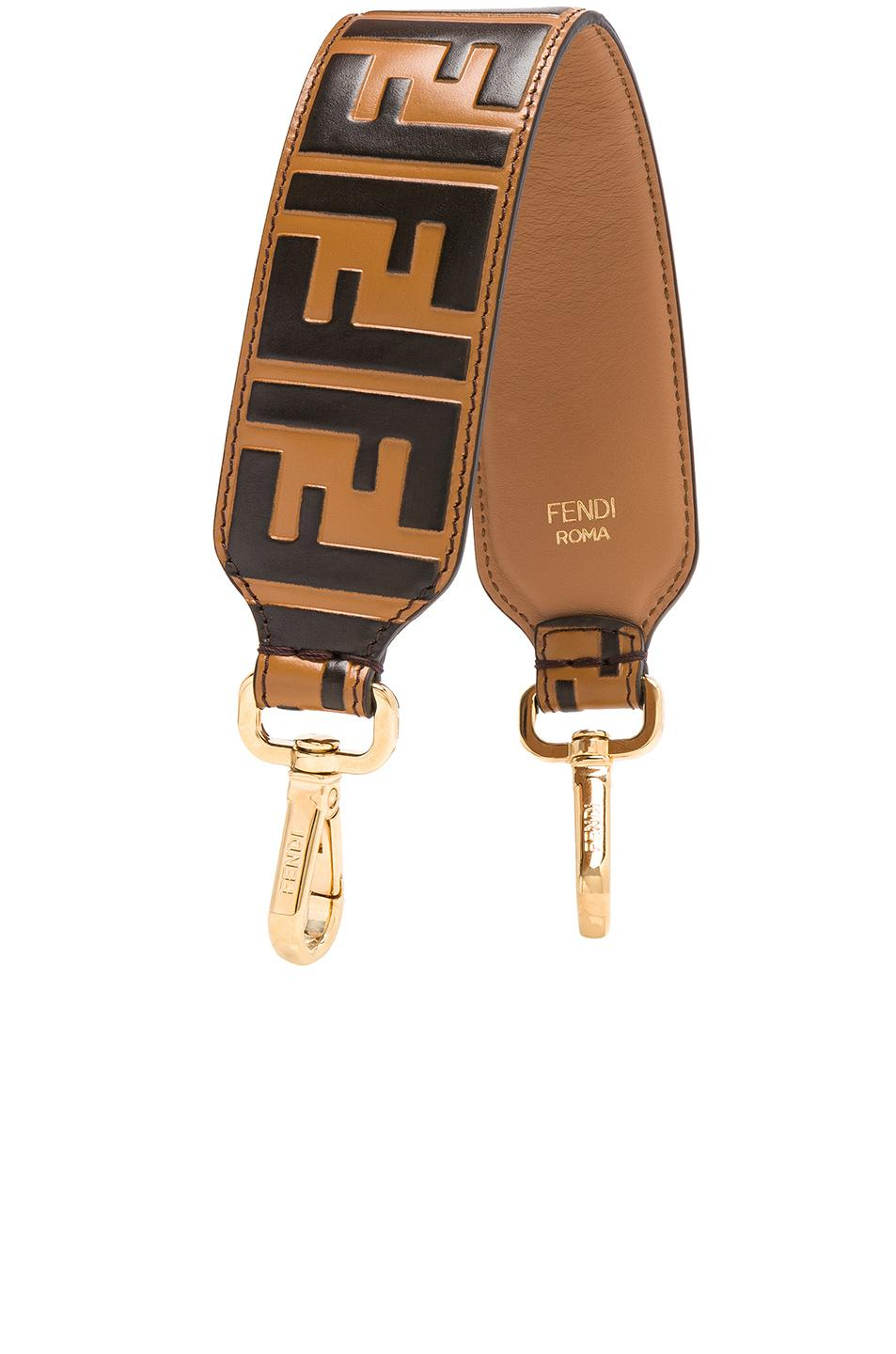 8919563e889d Lyst - Fendi Ff Printed Mini Bag Strap