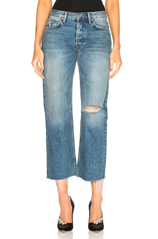 Maran Mid Rise Wide Leg Crop in Blue GRLFRND 10J5yh1Bp