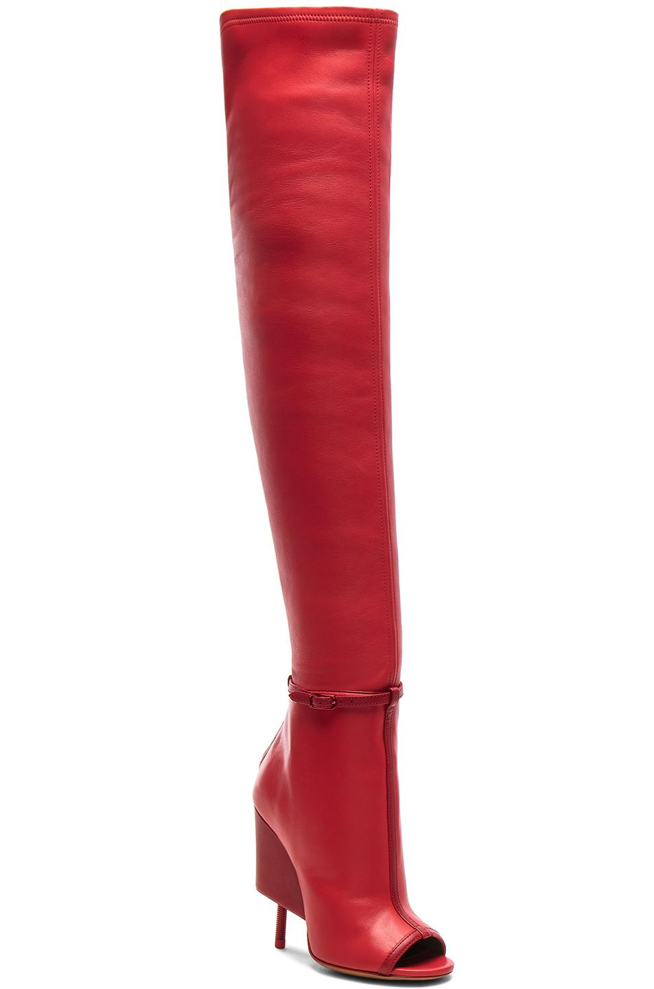contrast toe thigh high boots - Brown Givenchy IWzv1g2OJG
