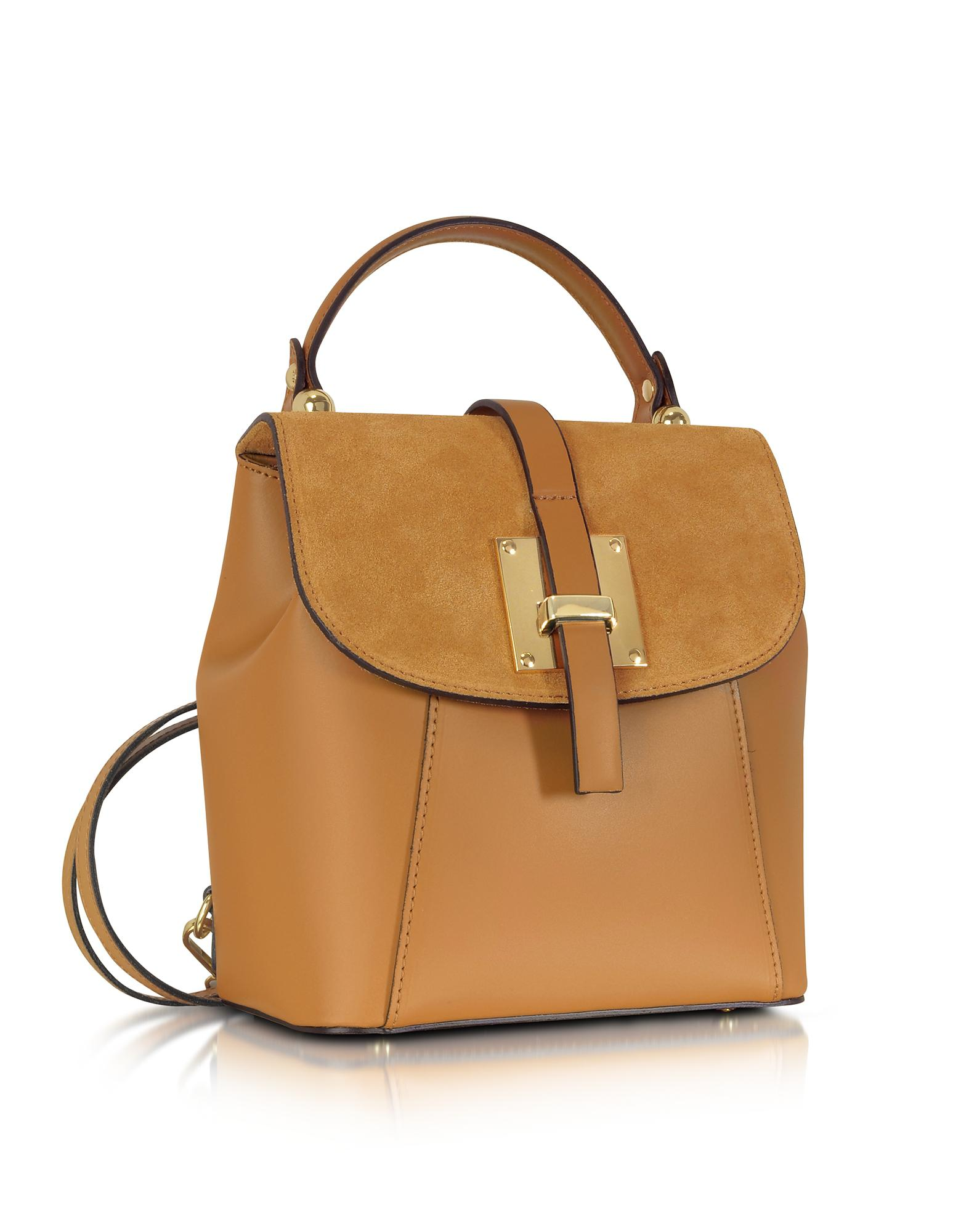 d0bf92630e4 ... Lyst - Le Parmentier Palazia Cognac Suede And Leather Small reputable  site 203e0 b578f . ...