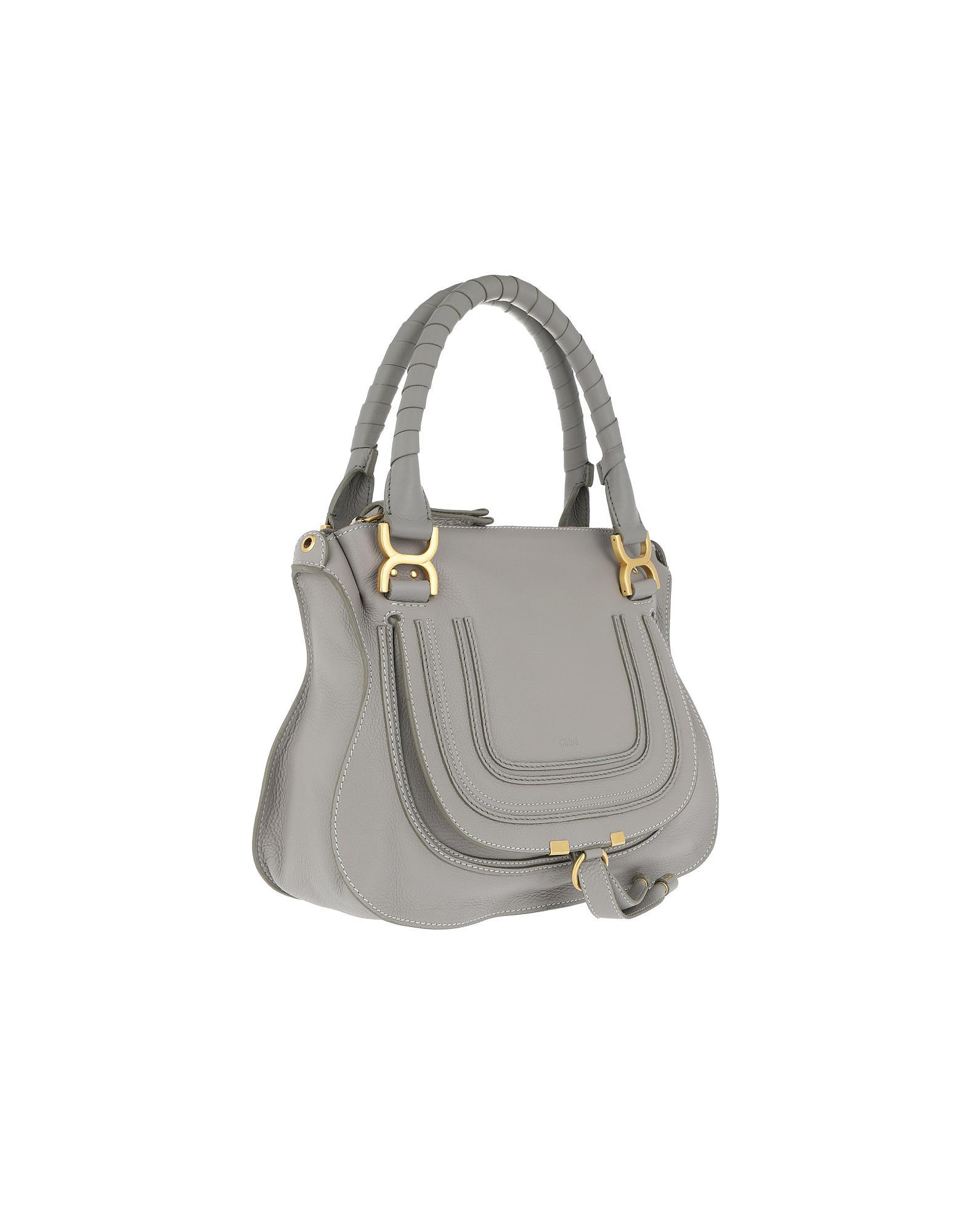 4c7e8d26393 Chloé Marcie Medium Shoulder Bag Cashmere Grey in Gray - Lyst