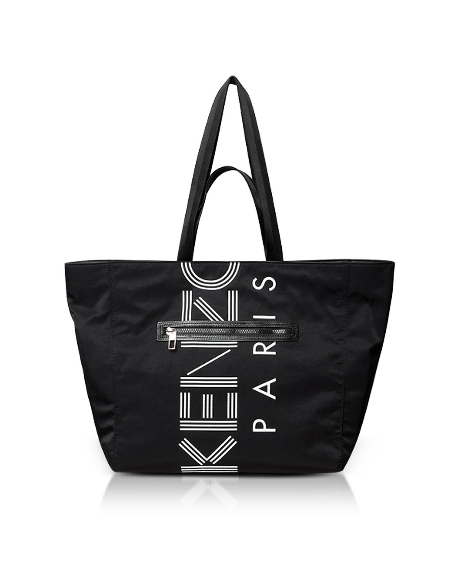 22df3ece KENZO Black Sport Logo Tote Shopper Bag