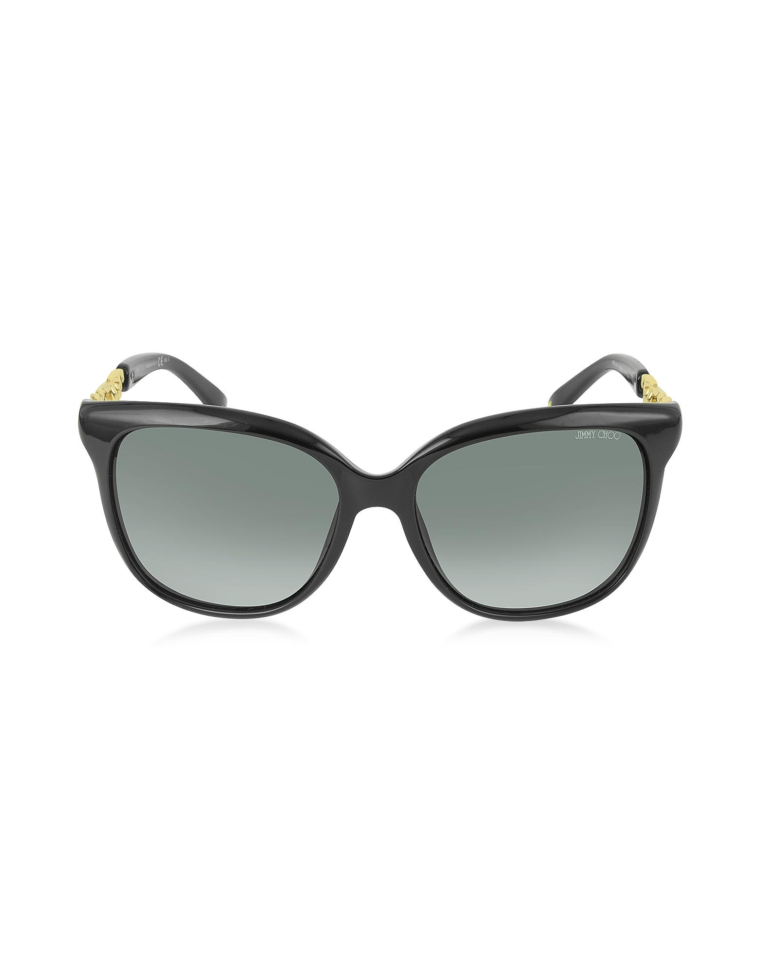 d023a3cf53ee Jimmy Choo - Black Paula/s Acetate Women's Sunglasses - Lyst. View  fullscreen