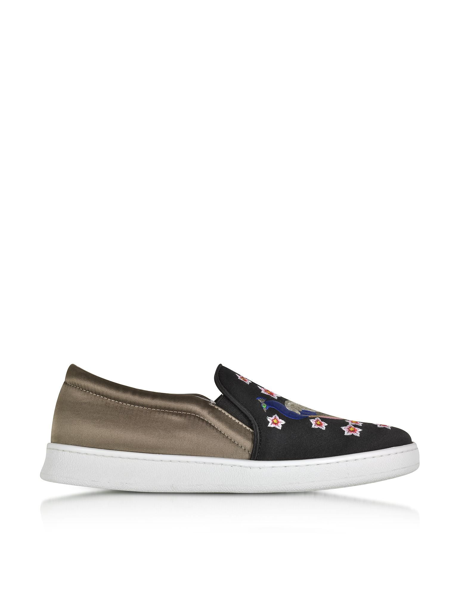 Broderie Paon Joshua Ponceuses Slip-on Chaussures De Sport - Noir zC6zHSy44