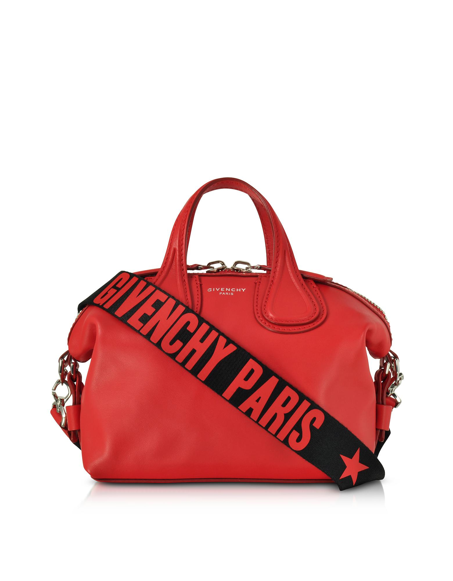 f0f94961df0e Lyst - Givenchy Red Leather Small Nightingale Satchel Bag in Red