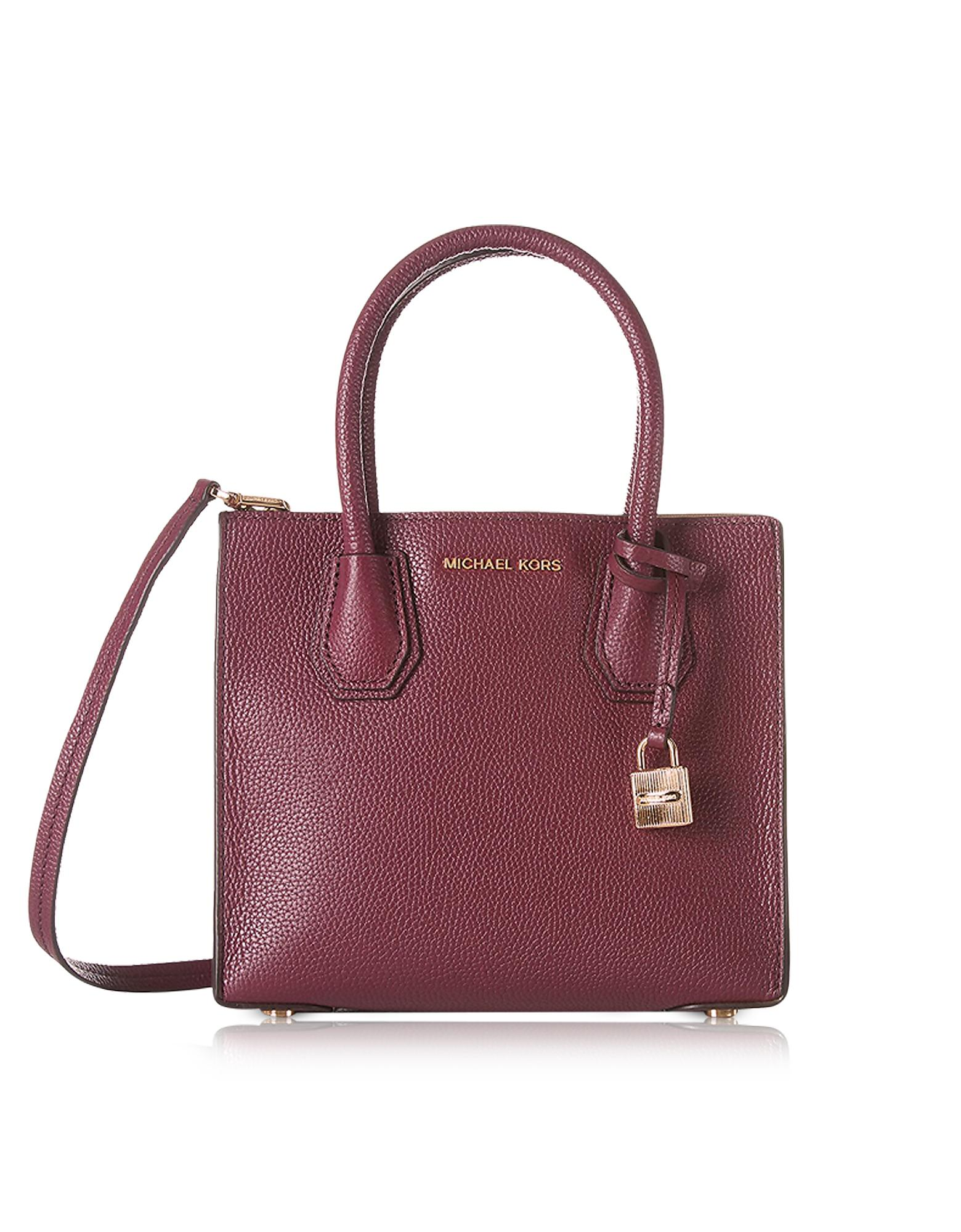 3165be34b4a1 Michael Kors Mercer Medium Mulberry Pebble Leather Crossbody Bag in ...