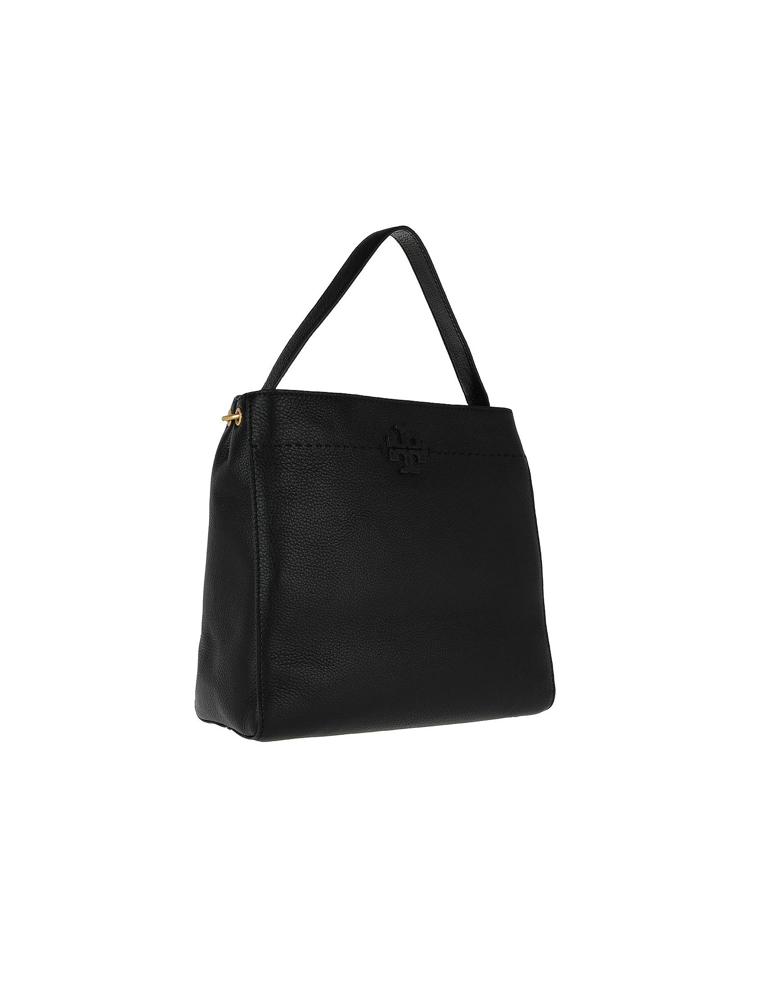 3fee899ad26 Lyst - Tory Burch Mcgraw Hobo Bag Black in Black