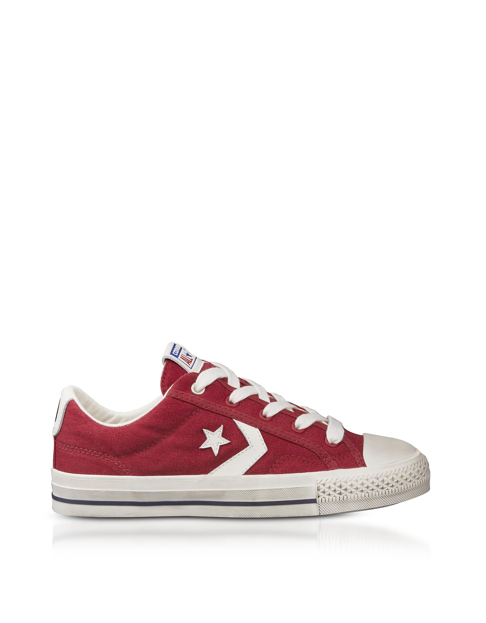 New Canvas Hombre Converse Rojo Star Player Ox Canvas New Trainers Lace Up a289a1