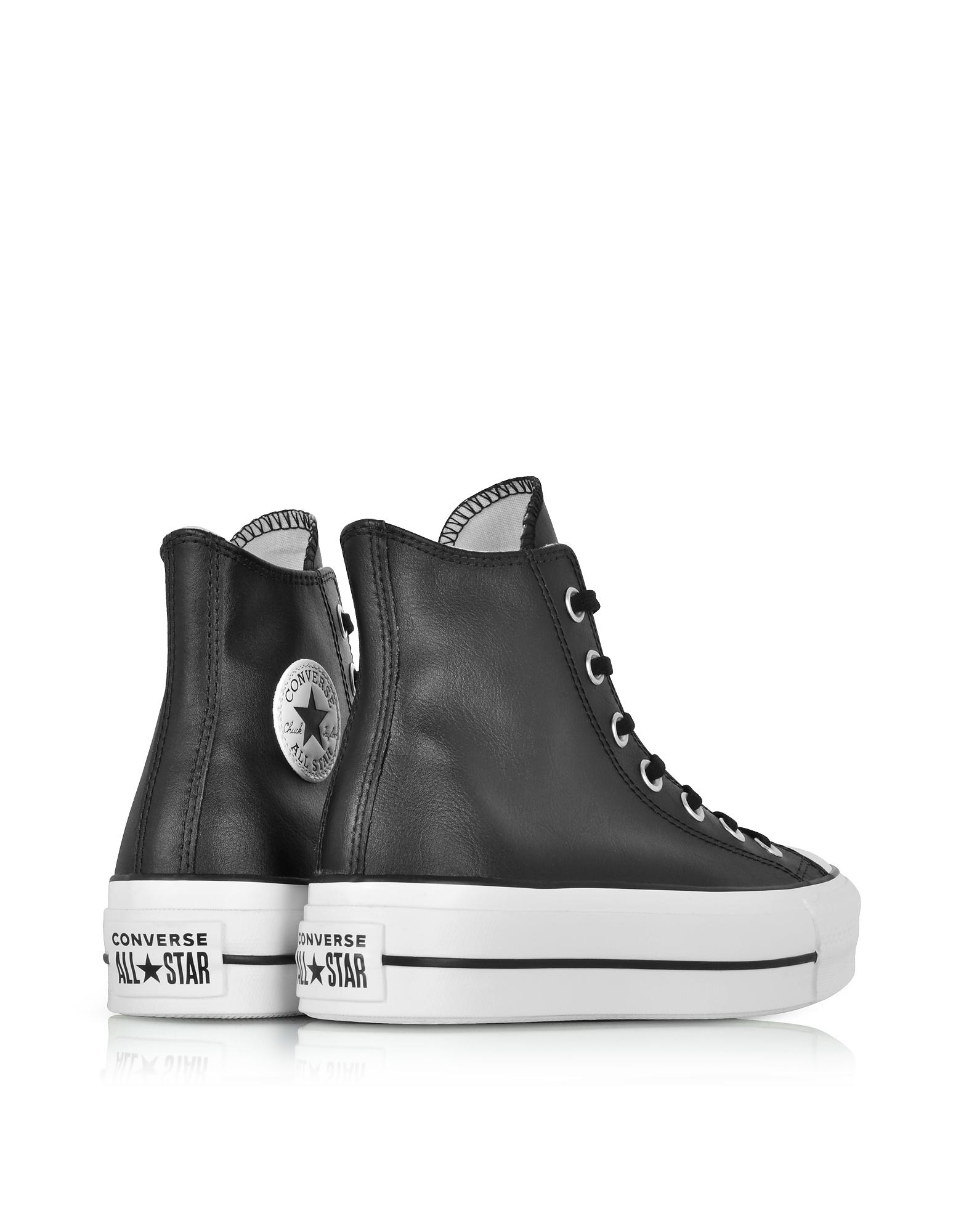 2converse chuck taylor all star lift leather high top