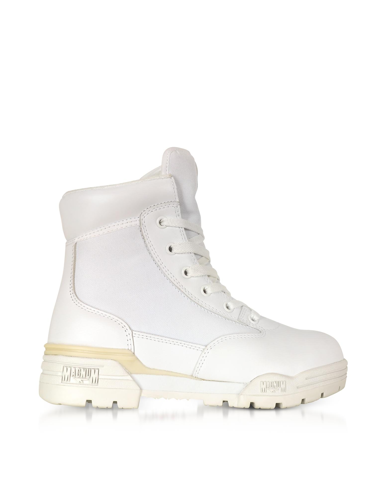 0ef67368ae9 Hi-tec Magnum 6 Classic Lux White Mesh And Leather Women's Boots