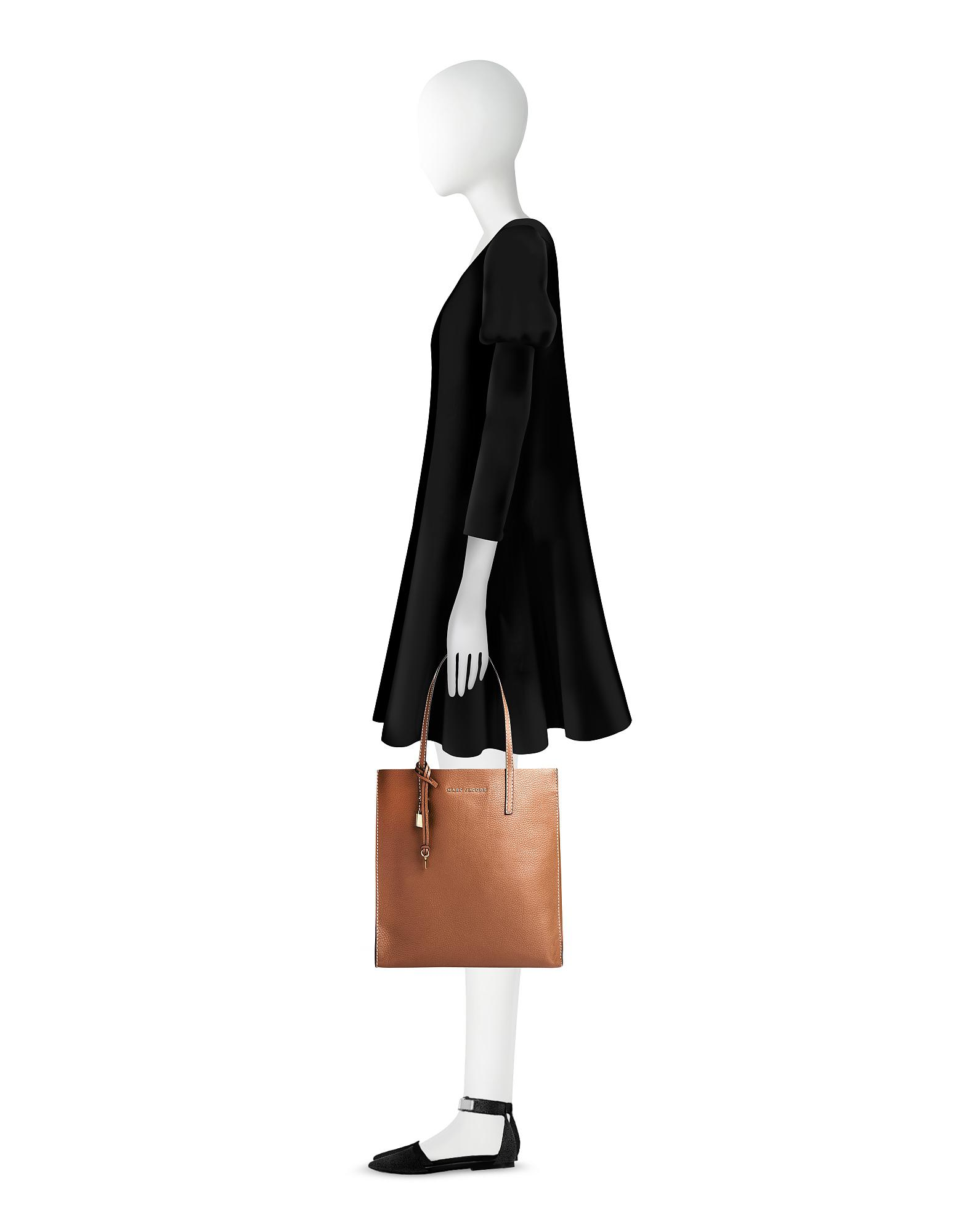 f42c292c3003 Lyst - Marc Jacobs Saddle Leather The Grind Shopper Tote Bag in Brown